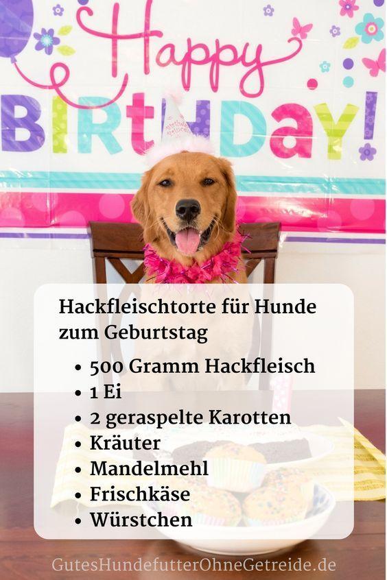 Rezept für Hackfleischtorte zum Hundegeburtstag