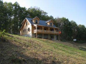 wenweave studio is located in a log cabin in Barbour County, West Virginia.