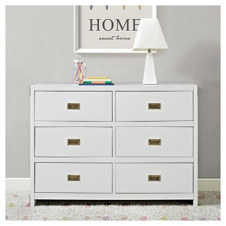 Baby Relax Miles Campaign Dresser White With Images Campaign Dresser Kids Dressers Dresser Drawers