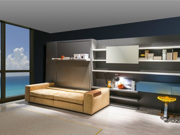 Murphy Bed With Sofa Modern Design Home Office Guest Bedroom Ideas Floating  Shelves