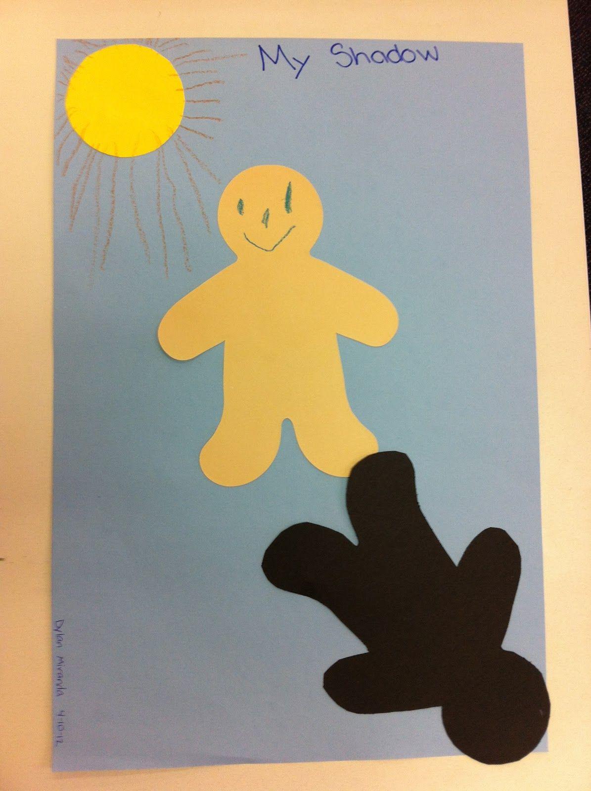 shadow craft for preschool and kindergarten students science