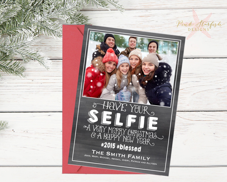 Christmas Card Holiday Card Selfie Christmas Card Etsy Selfie Christmas Card Holiday Cards Christmas Cards