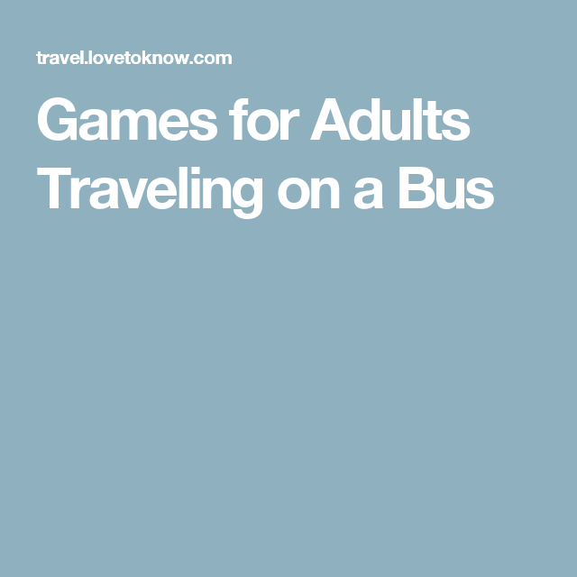 Games To Play On Casino Bus Trip