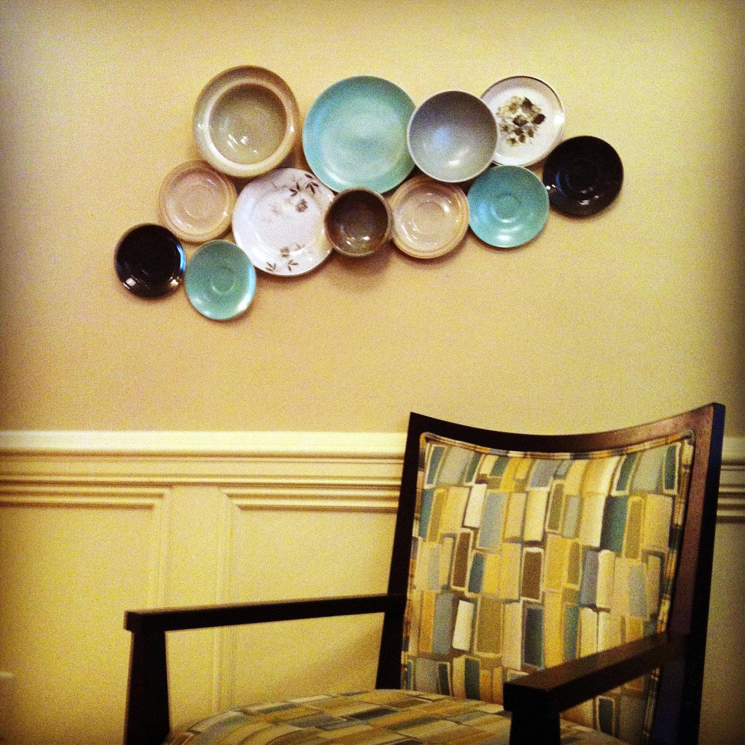 UrbanDISH Plates on Wall Home Decor Collage \