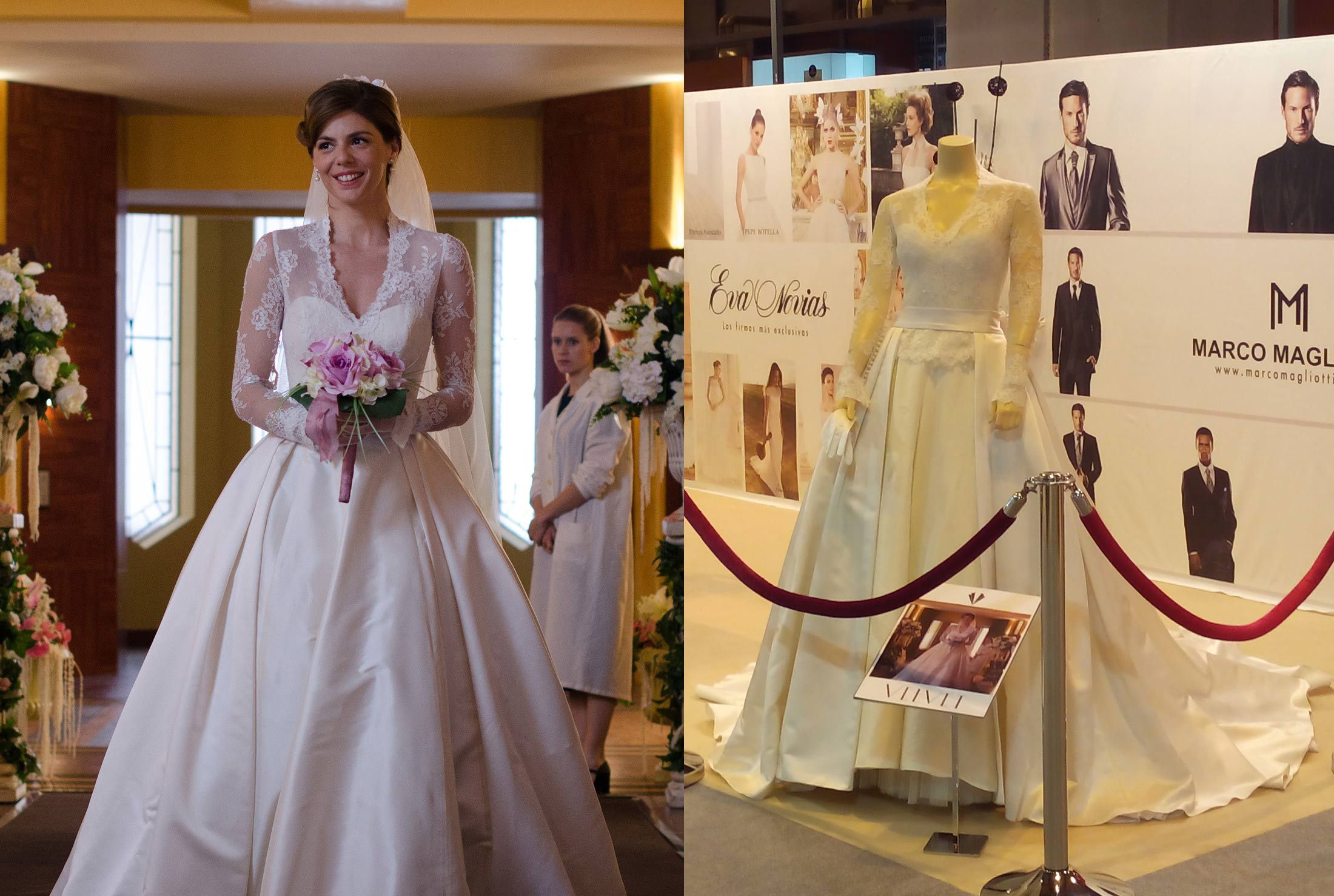 Vestido de novia de la serie Velvet confeccionado en los talleres de ...