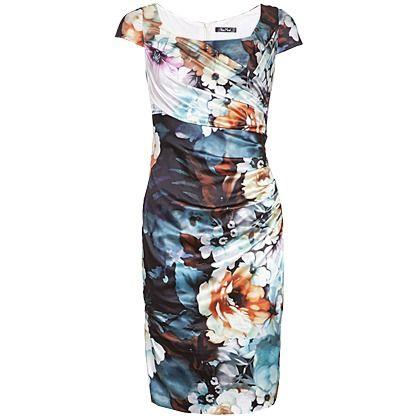 Kleid mit Blumen - Vera Mont | Kleider, Kleid mit ärmel ...