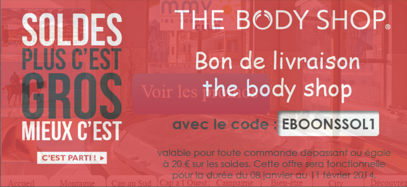 presenting latest outlet store sale Code promo The body shop valable sur eBoons. | eBoons le pro ...