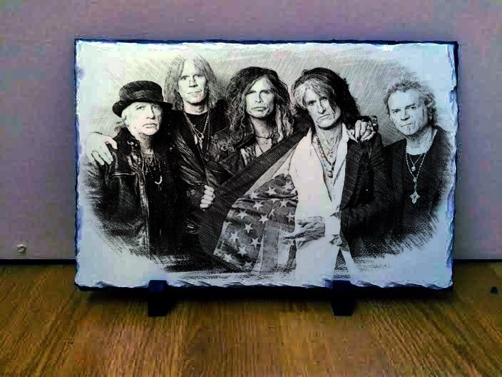 Aerosmith Sketch Art on Slate - This is for sale so if you want to make me an offer then please email me at wynperkins@gmail.com