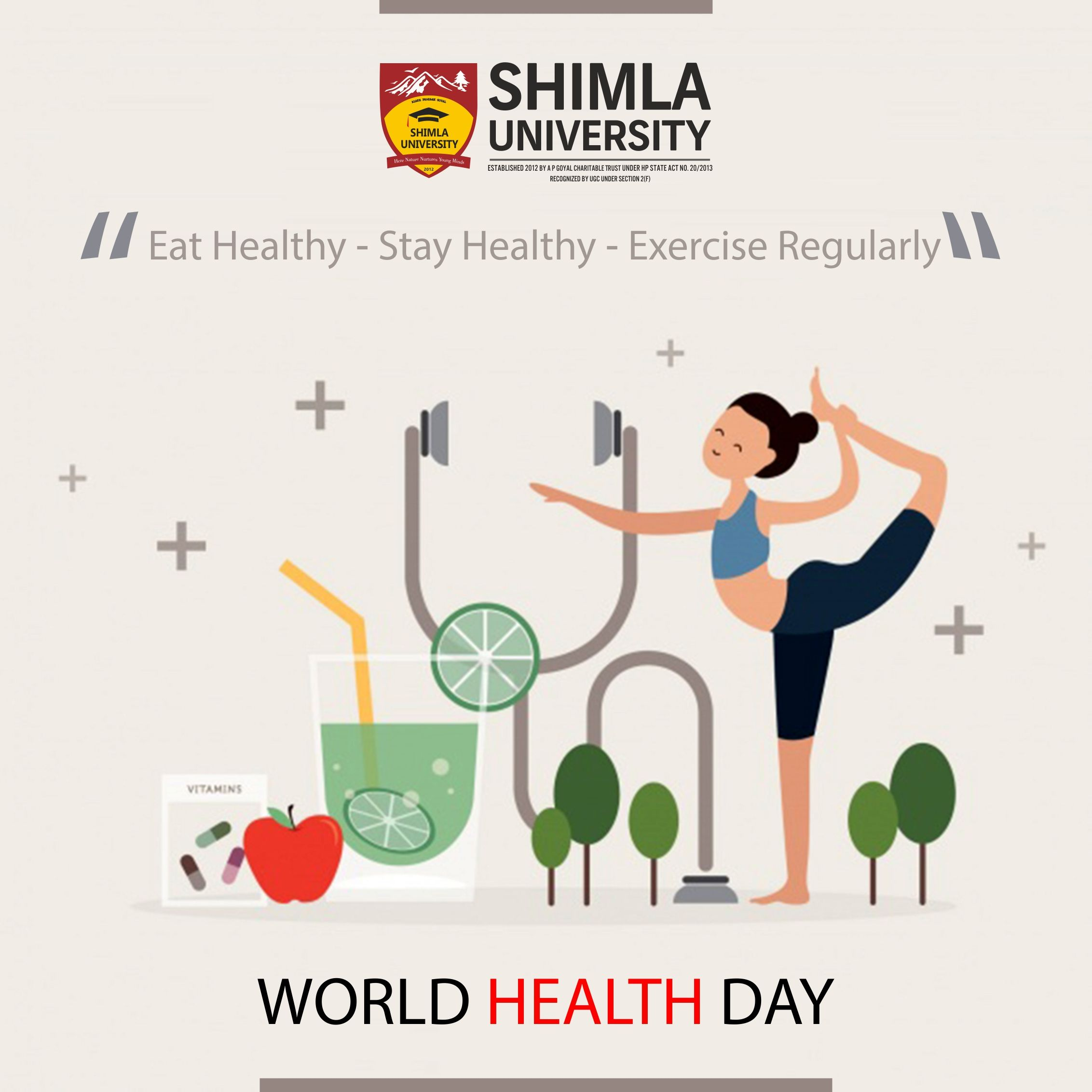 World Health Day Is Celebrated Every Year On The Founding Day Of The World Health Organization The Day World Health Day Health Day Health Quotes Inspirational