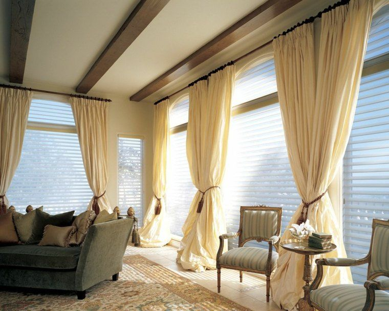 tendencias cortinas y persianas salones cortinas Pinterest