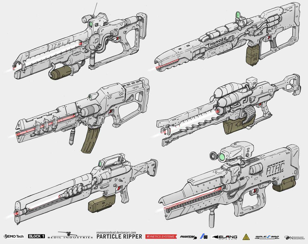 Particle Ripper by NOMANSNODEAD gun rifle plasma laser