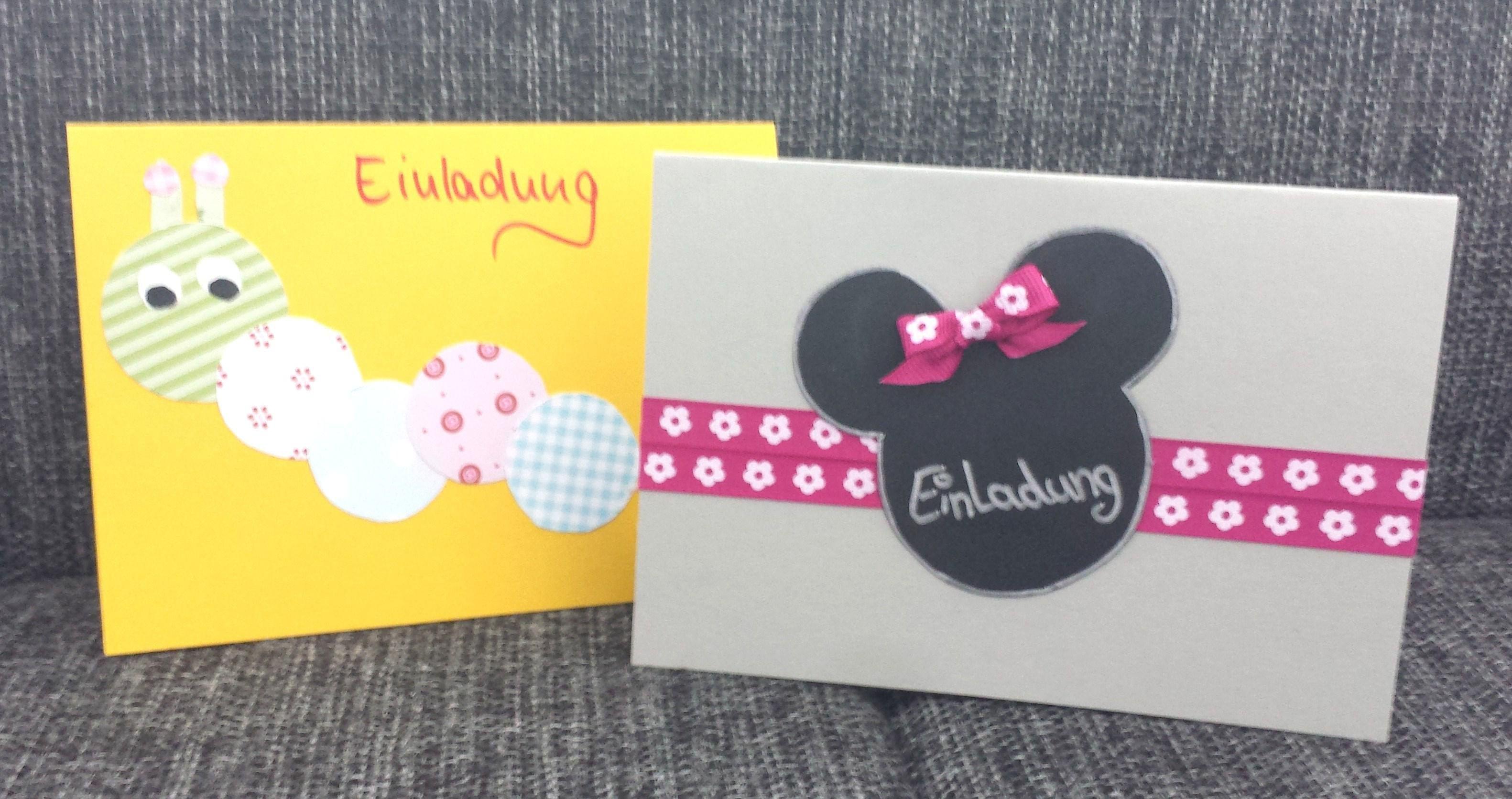 Einladungskarten Kindergeburtstag Selber Basteln   Einladungskarten Ideen