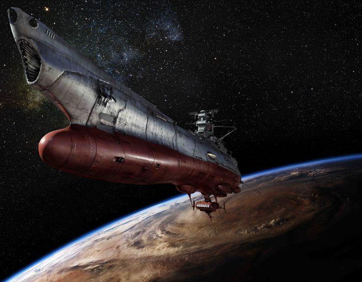 Space Battleship Yamato Anime Sci Fi Science Fiction Futuristic Spaceship Ship Boat Anime D Wallpaper Background Space Battleship Battleship Yamato