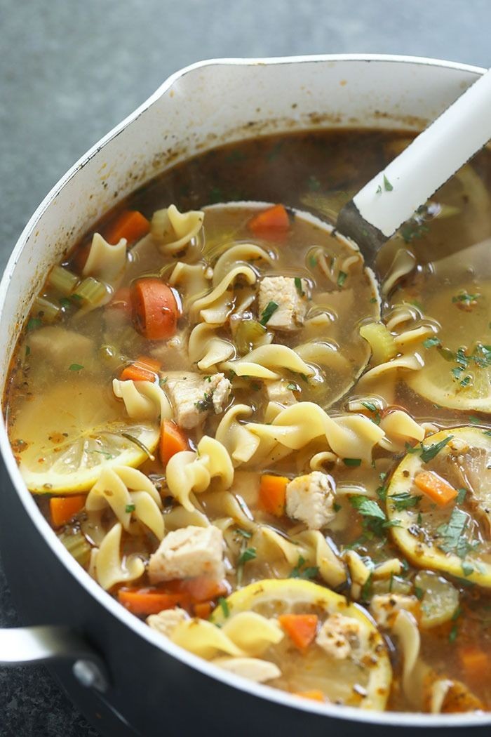 this homemade chicken noodle soup with egg noodles is