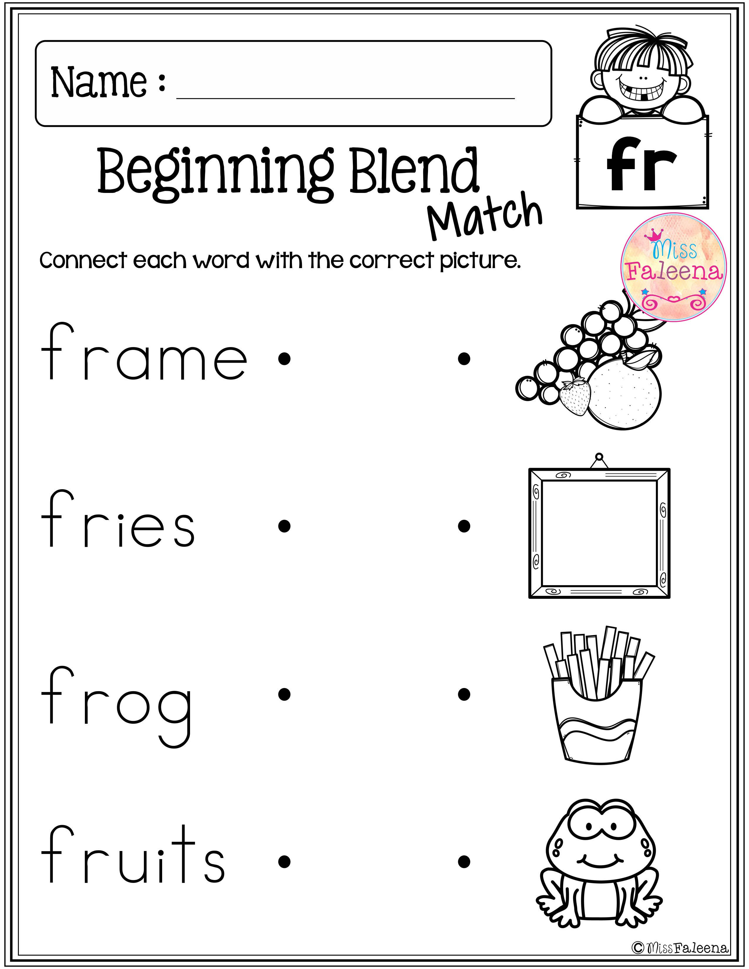 medium resolution of These are FREE samples from my Beginning and Ending Activities the Bundle.  Free Beg…   Blends worksheets