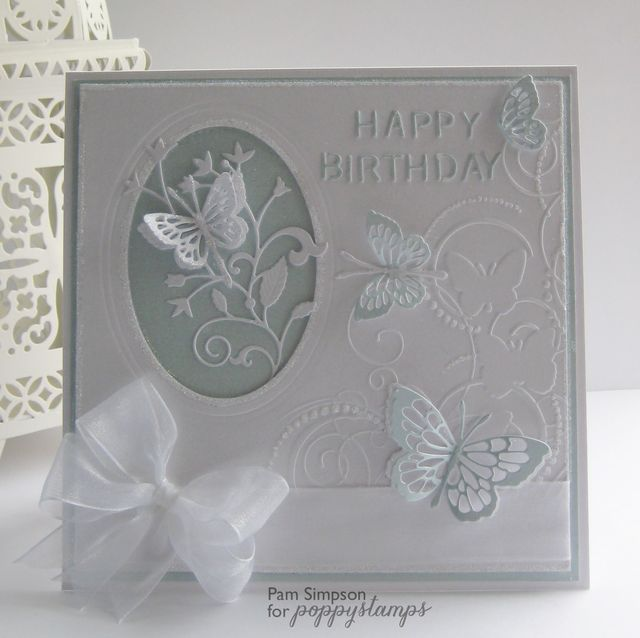 Card Making Ideas With Embossing Folders Part - 32: Embossed Cards · By The Poppystamps Design Team Darice Butterfly Embossing  Folder Idea