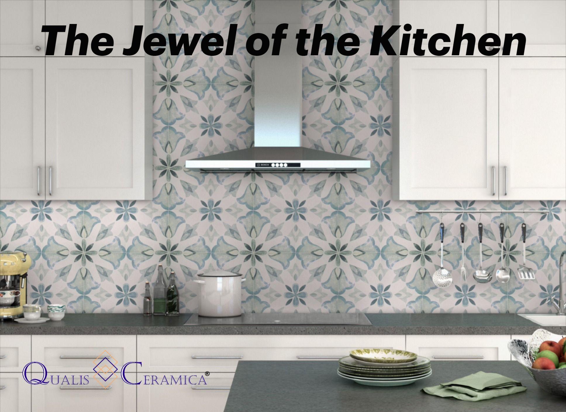Kitchen Backsplash Tile Ideas Qualis Ceramica Tapestry Lisbon 9x9 Porcelain Cement Look Shower Wall Tile Kitchen Tiles Backsplash Unique Tile