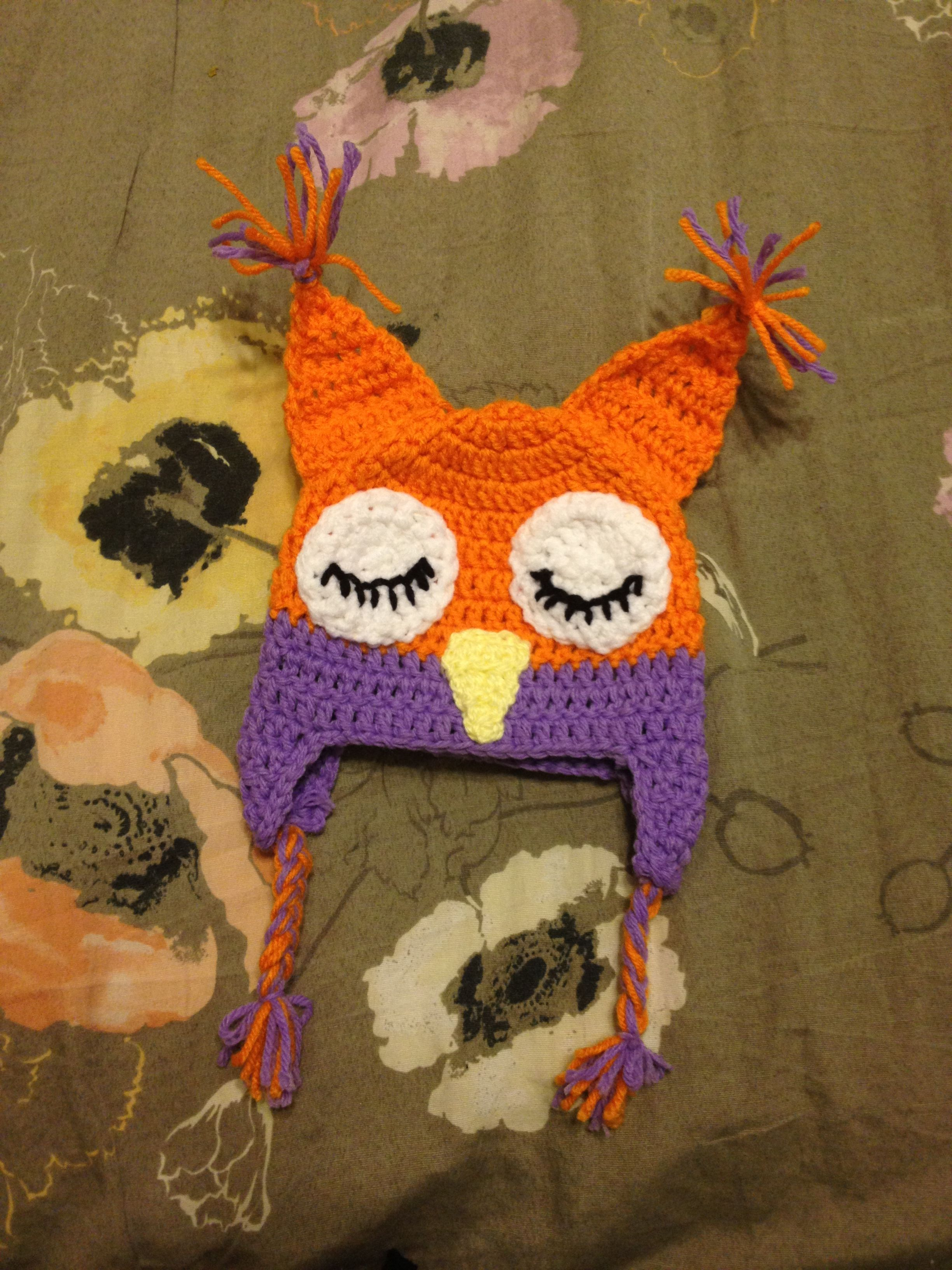 Crochet Baby Owl Hat Crochet Projects I Made Pinterest