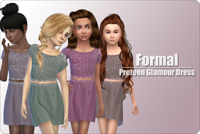 Sims 4 CC's The Best: Formal Dress for Girls by xMisakix