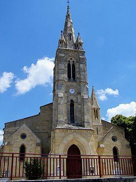 Église Saint-Martin à Castres-Gironde en Gironde.