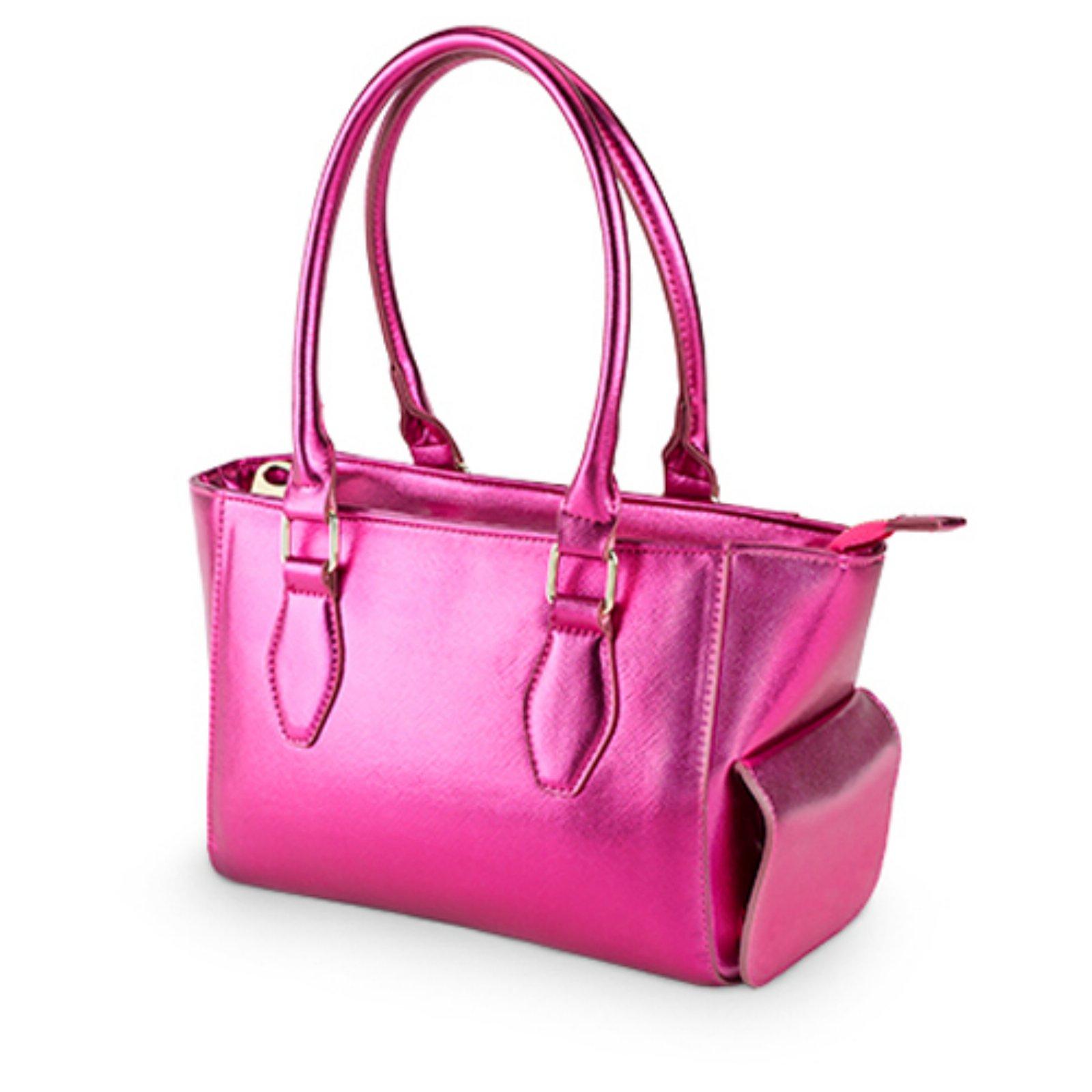 4ffaaaebb801 Blush Mini Insulated Wine Purse Metallic Hot Pink