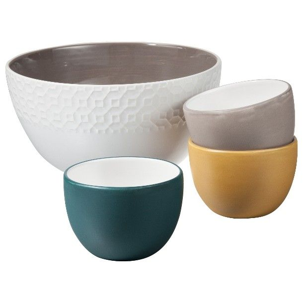 Threshold Ceramic 2 Toned Serving Bowl Collection Hey