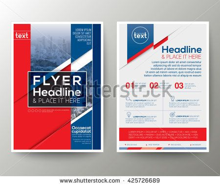 red and blue geometric background poster brochure flyer design