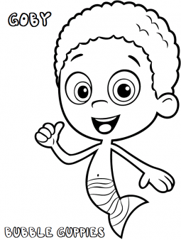 Printable Bubble Guppies Goby Coloring Pages