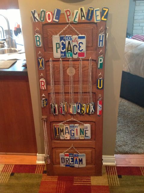 the art of up-cycling: old license plate - ideas for old license
