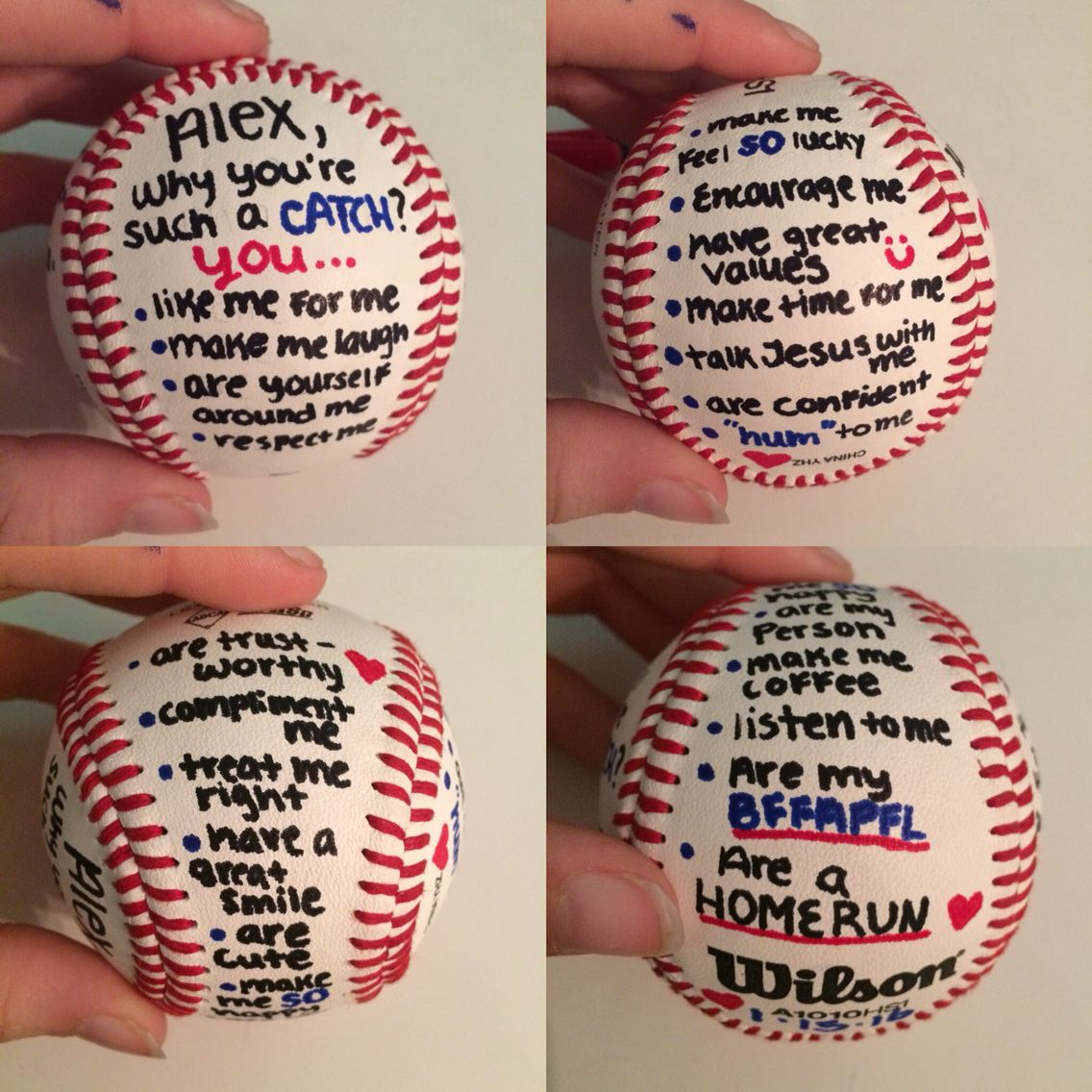 valentine's day for a baseball boyfriend … | pinteres…, Ideas
