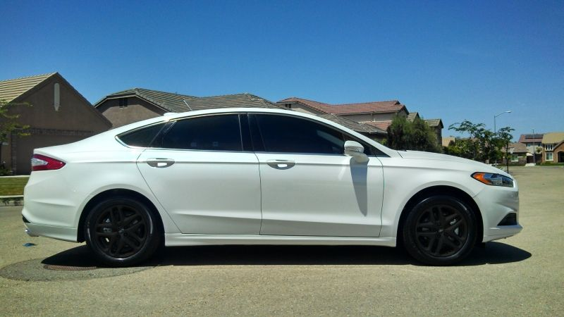ford fusion black stock wheels my 2013 ford fusion se w16l ecoboost platinum white page 3. Black Bedroom Furniture Sets. Home Design Ideas