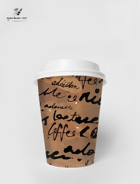 Coffee Tea Paper Cup Design By Aycan Basar Via Behance Paper Cup Cup Design Paper Cup Design