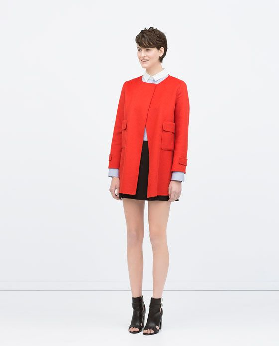 ZARA - COLLECTION SS15 - ROUND NECK HANDMADE COAT
