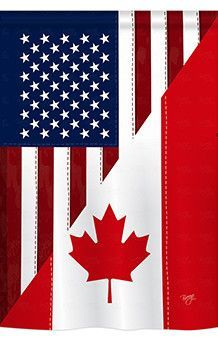 Usa Canada Combination Friendship 3x5 Polyester Flag Maple Leaf