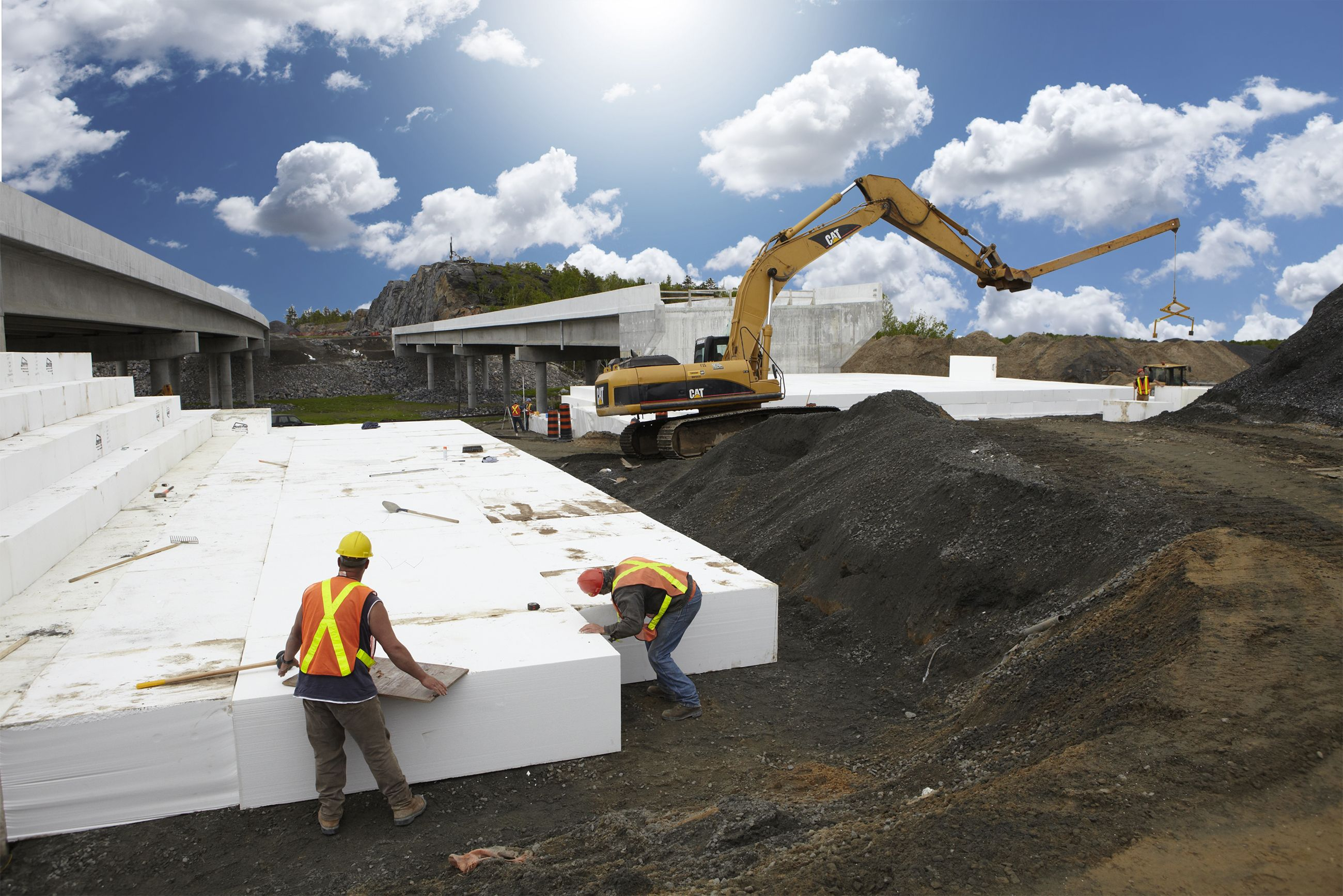 Employees of teranorth construction a subcontractor for Foam block construction