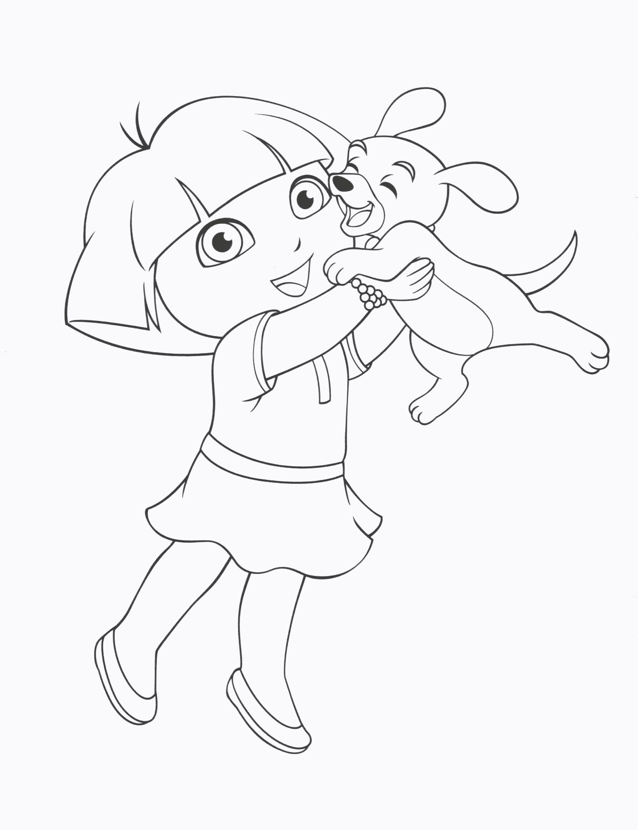 Dora The Explorer Coloring Book Dora Coloring Puppy Coloring Pages Coloring Pages