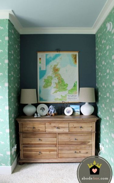 Bungalow Blue Interiors   Home   Irish Hunt Inspired Nursery    Wallpaper,
