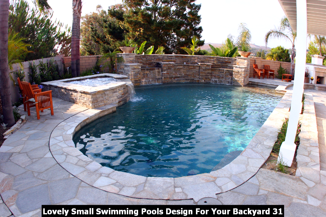 Lovely Small Swimming Pools Design For Your Backyard Homyhomee California Pools Backyard Pool Pools Backyard Inground