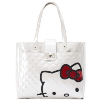 Hello Kitty Quilted Glazed Tote