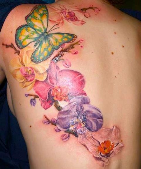 98d82ef56a tattoo cover up ideas for wrist | ... in Cover up Tattoo Ideas: Flower Butterfly  Cover Tattoo – BusBones