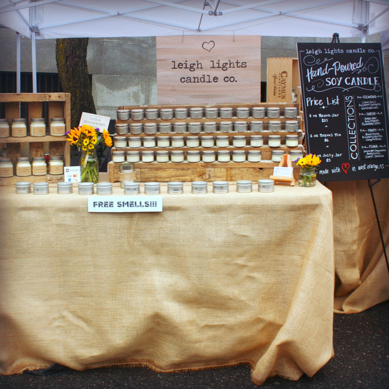Soy Candles Craft Show Booth Display Ideas Candle Booth Display Craft Market Display Craft Booth Displays