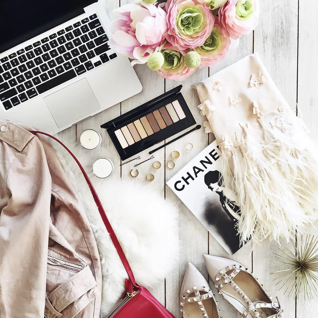 """""""{feathers & rockstuds} Planning an outfit inspired by the Nude Palette @LOREALParisUSA #LaPalette #LOrealSponsorship"""""""