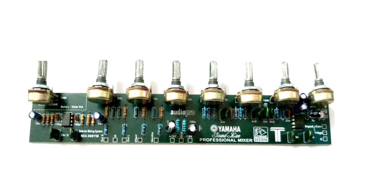 cara merakit mixer 6 chanel dengan mudah Rangkaian