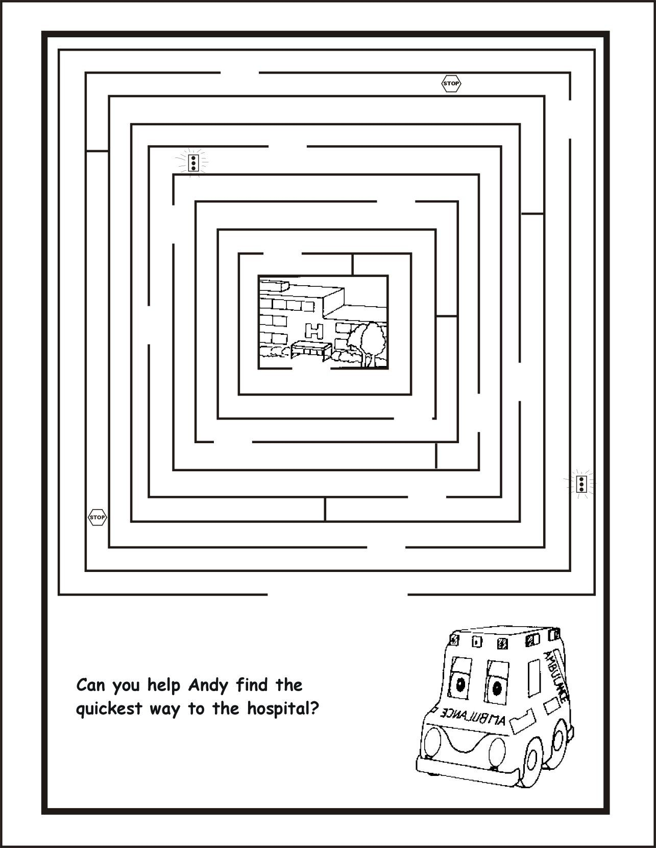 ambulance coloring pages | To view the larger version, click on each ...