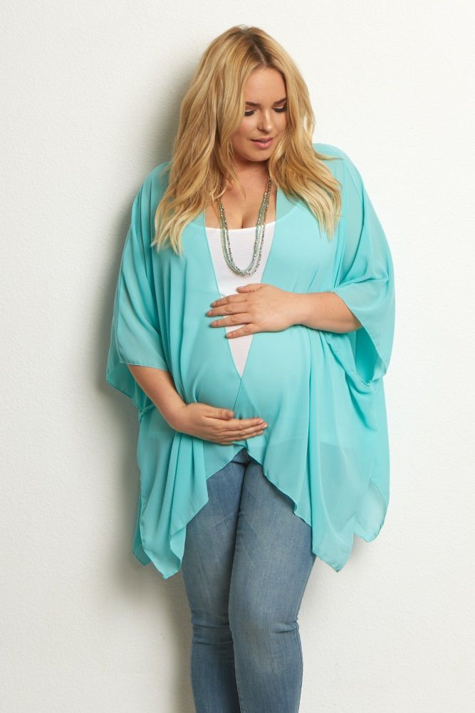 86c74c600c4a9 A gorgeous plus size maternity cardigan to layer over your favorite basic  pieces. A lightweight chiffon material allows you to wear it for every  season