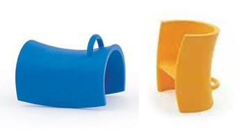 Op de kleurrijke Trioli zitjes kunnen kinderen zelf bepalen hoe ze willen zitten!