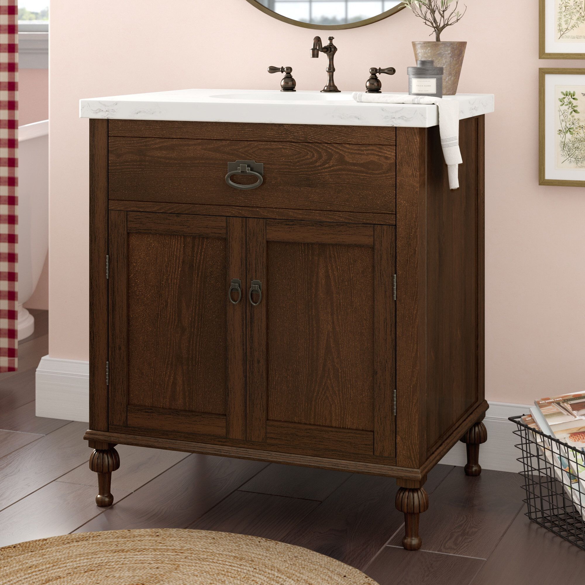 "Roseberry 30"" Single Bathroom Vanity Set Bathroom vanity"