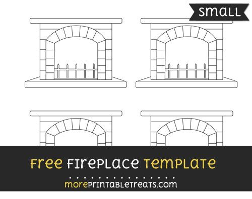 Free Fireplace Template - Small | Christmas stationery ...