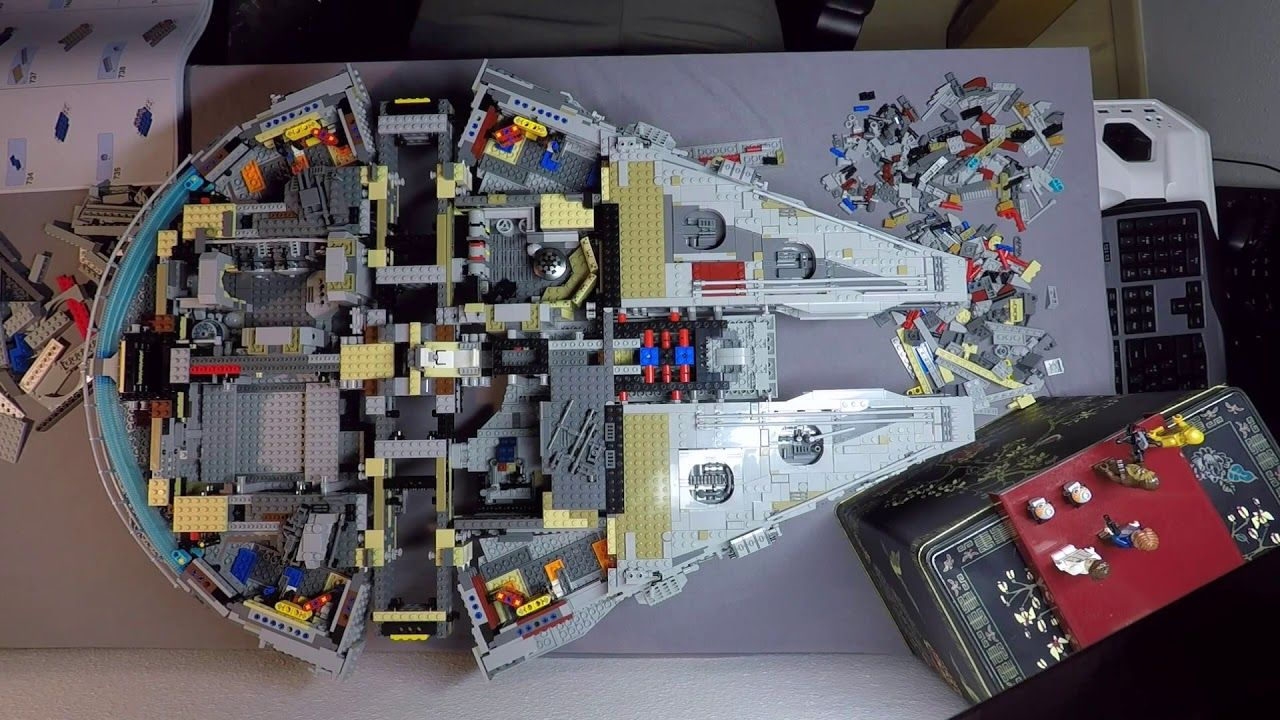 Amazing Timelapse Of The 7 541 Piece Lego Millennium Falcon Being Built Over A 20 Hour Period Millennium Falcon Lego Millennium Falcon Lego Star Wars
