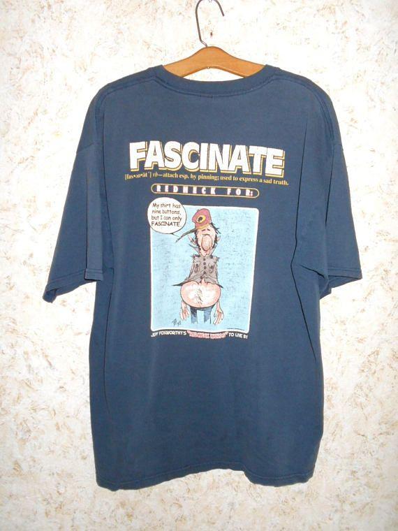 49c3225079 Vintage 90s Jeff Foxworthy Novelty Tee T Shirt Redneck | Vintage ...